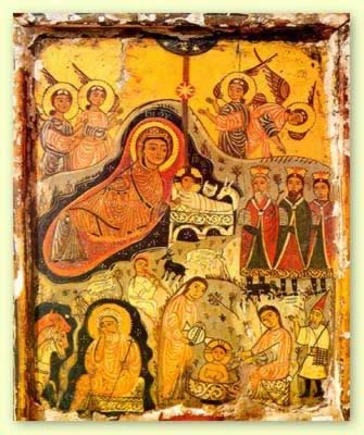 Coptic-icon-of-nativity